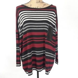 Red23 Oversized Tee Shirt Striped Size XS